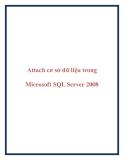 Attach cơ sở dữ liệu dùng trong  Microsoft SQL Server 2008
