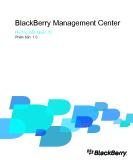 BlackBerry Management Center Hướng Dẫn Quản Trị Phiên bản: 1.0