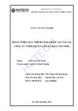 Luận văn:Hoàn thiện quy trình giao nhận vận tải tại công ty TNHH dịch vụ hàng hóa Con Thoi