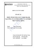 Luận văn:Phân tích năng lực cạnh tranh tại công ty cổ phần dây và cáp điện Việt Nam (CADIVI)