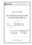 Luận văn: Quản trị nhân sự tại công ty TNHH Yang Lin Global Việt Nam