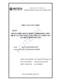 Luận văn: Một số giải pháp Marketing cho dịch vụ giao nhận tại công ty TNHH vận tải biển Minh Nguyên