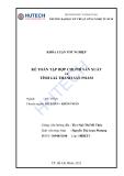 Luận văn đề tài : Kế toán tập hợp chi phí &  tính giá thành sản phẩm