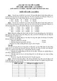 BÀI TẬP  ÔN THI TỐT NGHIỆP TỔ CHỨC-ĐỊNH MỨC LAO ĐỘNG  (LIÊN THÔNG CAO ĐẲNG - ĐẠI HỌC QUẢN TRỊ NHÂN LỰC 2010)