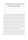 """Hình ảnh người Phụ Nữ VN trong văn bản """"Tình cảnh lẻ loi của người chinh phụ"""""""