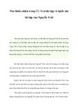 Thơ thiên nhiên trong Ức Trai thi tập và Quốc âm thi tập của Nguyễn Trãi