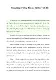 Bình giảng 20 dòng đầu của bài thơ Việt Bắc