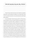 Đức tính trung thực trong cuộc sống - Bài làm 1