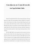 Cảm nhận của em về cuộc đời của nhà văn Nguyễn Đình Chiểu