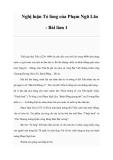 Nghị luận Tỏ lòng của Phạm Ngũ Lão - Bài làm 1