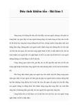 Đức tính khiêm tốn - Bài làm 1