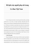 Tài liệu: Bi kịch của người phụ nữ trong Ca Dao Việt Nam