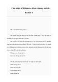 Cảm nhận về bài ca dao Khăn thương nhớ ai Bài làm 2