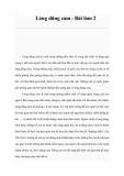 Lòng dũng cảm - Bài làm 2