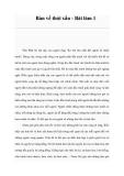 Bàn về thói xấu - Bài làm 1