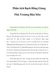 Phân tích Bạch Đằng Giang Phú Trương Hán Siêu