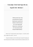 Cảm nhận về bài Cảnh Ngày Hè của Nguyễn Trãi - Bài làm 2