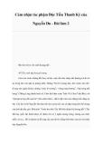 Cảm nhận tác phậm Độc Tiểu Thanh Ký của Nguyễn Du - Bài làm 2