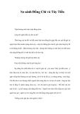 So sánh Đồng Chí và Tây Tiến