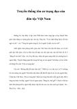 Truyền thống tôn sư trọng đạo của dân tộc Việt Nam