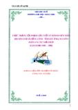 Đề tài: THỰC TRẠNG TỘI PHẠM LỨA TUỔI VỊ THÀNH NIÊN TRÊN ĐỊA BÀN THỊ XÃ HỒNG LĨNH - TỈNH HÀ TĨNH, NGUYÊN NHÂN VÀ CÁC GIẢI PHÁP