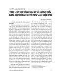 """Báo cáo """" Pháp luật hợp đồng Hoa Kỳ và những điểm khác biệt cơ bản so với pháp luật Việt Nam """""""