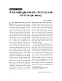 """Báo cáo """"    Về trách nhiệm quản lý nhà nước của các bộ, ngành đối với đa dạng sinh học """""""