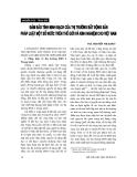 """Báo cáo """"   Bảo đảm tính minh bạch của thị trường bất động sản pháp luật một số nước trên thế giới và kinh nghiệm cho Việt Nam """""""
