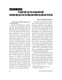 """Báo cáo """" Thi hành pháp luật của cơ quan nhà nước: Khái niệm, hiệu quả và sự tác động (ảnh hưởng) của hiệu quả tới xã hội """""""