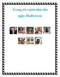 Trang trí vườn nhà cho ngày Halloween