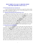 PHÁT TRIỂN LÝ LUẬN VÀ PHƯƠNG PHÁP DẠY HỌC BỘ MÔN TOÁN Phần 2