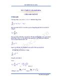 Bài 11 Chuỗi số và tiêu chuẩn hội tụ