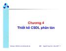 """Chương 4 """" Thiết kế CSDL phân tán"""""""