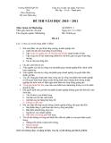 ĐỀ THI NĂM HỌC 2010 – 2011 - Môn: Quản trị Marketing - Đề số 2