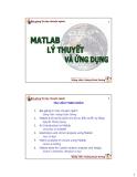 MATLAB -  LÝ THUYẾT ỨNG DỤNG