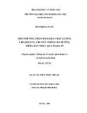LUẬN ÁN TIẾN SĨ KỸ THUẬT : MỘT PHƯƠNG PHÁP ĐẢM BẢO CHẤT LƯỢNG CHO DỊCH VỤ TRUYỀN THÔNG ĐA HƯỚNG THỜI GIAN THỰC QUA MẠNG IP