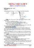 Tiếng Việt lớp 5 phần I  :Luyện từ và câu
