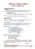 Tiếng Việt lớp 5 phần IV - Chính tả