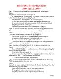 ĐỀ CƯƠNG ÔN TẬP HỌC KÌ II MÔN ĐỊA LÝ LỚP 9