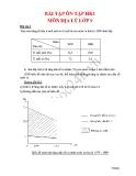 Môn Địa lý lớp 9: Bài tập ôn tập học kỳ một