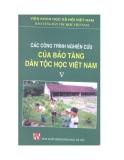 Ebook Các công trình nghiên cứu của bảo tàng dân tộc học Việt Nam - NXB Khoa học xã hội