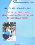 Kỷ yếu hội thảo khoa học: Thực trạng và giải pháp nâng cao chất lượng dạy và học theo hệ thống tín chỉ - ThS. Cao Thị Kim Thanh