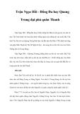 Trận Ngọc Hồi - Đống Đa hay Quang Trung đại phá quân Thanh
