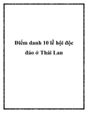Điểm danh 10 lễ hội độc đáo ở Thái Lan