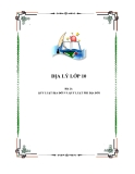ĐỊA LÝ LỚP 10 - Bài 21: QUY LUẬT ĐỊA ĐỚI VÀ QUY LUẬT PHI ĐỊA ĐỚI