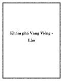 Khám phá Vang Viêng Lào