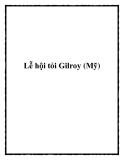 Lễ hội tỏi Gilroy (Mỹ)