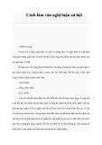 Tham khảo: Cách làm văn nghị luận xã hội