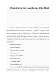 Phân tích bài thơ sang thu của Hữu Thỉnh