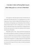 Cảm nhận về nhân vật Phương Định trong tác phẩm Những ngôi sao xa xôi của Lê Minh Khuê